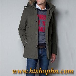 Áo Khoác Thu Đông Zara VELVETEEN THREE QUARTER LENGTH COAT Giá 1200K LH HTshop 0942586399