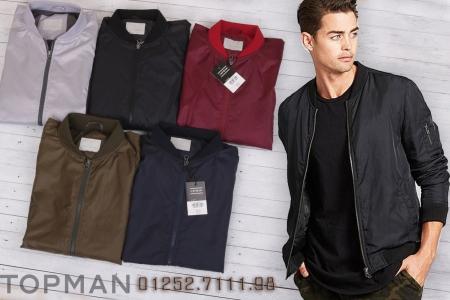chuyên bán buôn các loại áo khoác thời trang nam, áo khoác gió bomber nam topman